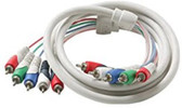 5-RCA Component Video/Audio Cable, Black