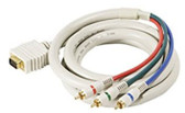 12-Feet VGA-3RCA RGB Component Video Cable, Ivory
