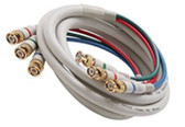 6-Feet 3-BNC Component Video Cable, Ivory