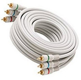 6-Feet 3-RCA Component Video Cable, Ivory