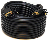 25 SVGA DE15HD and 3.5MM Stereo M/M Monitor/Audio Cable, Black