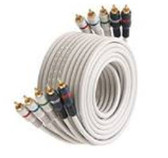 50-Feet 5-RCA Component Video/Audio Cable, Ivory
