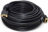 100 feet SVGA Cable with Ferrites, Black, HD15 Male, Coaxial Construction, Double Shielded