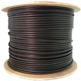 CAT5E 350MHz 24 AWG 1000-Feet with CMX Direct Burial Gel-Filled Cable, Solid, Black, Spool