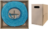 1000 feet CAT 6 23AWG 4PR Solid STP Ethernet Cable Blue