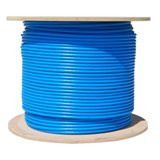 Plenum Bulk Cat6a 1000-Foot Blue Ethernet Cable, Solid, CMP, UTP, 500Mhz, 23 AWG, Spool