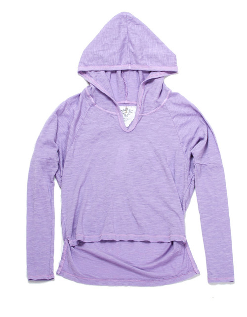 L/S High-Low Hooded Top