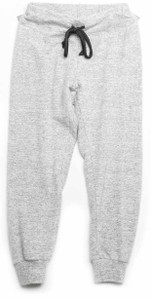 LT GREY CUFFED SWEAT PANTS WITH BACK POCKET (FRONT)