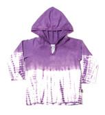 3/4 Sleeve Bamboo Dip Dye Hoodie