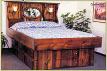 Crestwood Solid Pine Wood Frame Hardside Waterbed Frame Kit