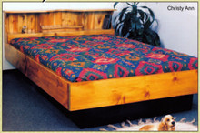 christy ann solid pine hardside waterbed frame and base