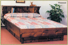 Pinewood Solid Pine Hardside Waterbed Bed Frame