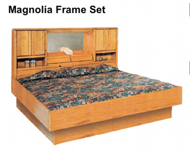 Oak Magnolia Oak Waterbed Hardside Foundation Waterbed