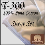 London Bridge Linens T-300 Cotton Waterbed Sheet Set|london bridge linens, t300, cotton, sheet sets