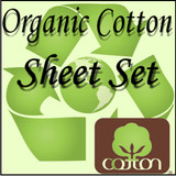 London Bridge Linens Organic Cotton T-300 Waterbed Sheet Set|london bridge linens, t300, organic cotton, sheet sets