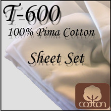 London Bridge Linens T-600 Cotton Waterbed Sheet Set|london bridge linens, t600, cotton, sheet sets