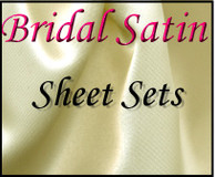 London Bridge Linens Bridal Satin Conventional Sheet Set|london bridge linens, bridal satin, conventional, sheet sets