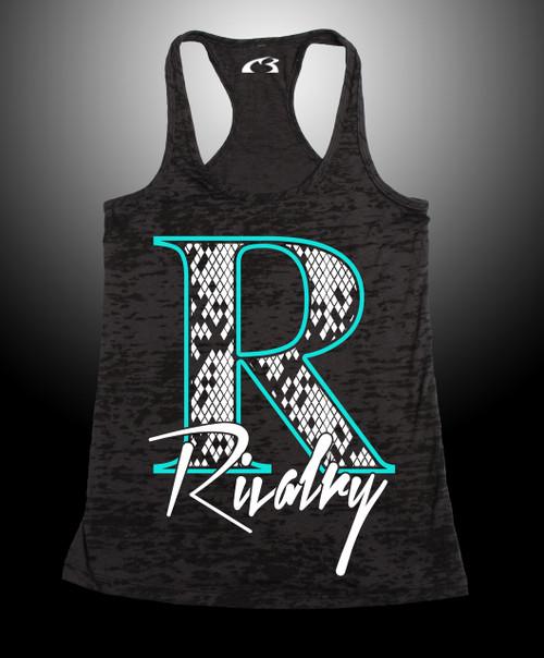 Women's Retro Rivalry Burnout Razor Tank  65% Poly 35% Cotten Pre-Shrunk  3.7 oz