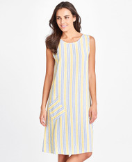 FLAX Picnic 2018 Riverwalk Dress shown in summer stripe