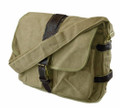"Amik ""La Brea"" Satchel"" Compact Canvas Messenger Bag - Khaki Tan"
