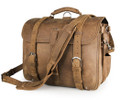 """Santiago 3"" Men's Full Grain Distressed Leather Backpack & Travel Bag - Tan"