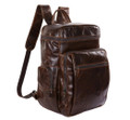 """Newtown"" Large Vintage Leather Travel Backpack & Daypack"