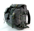 Refurbished Men's Trendy Military Style Canvas Backpack - Gunmetal Grey
