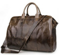 """Jaffna"" Smooth Top Layer Vintage Leather Carryall Tote Bag"