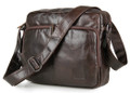 """New Delhi"" Men's Vintage Leather Compact Messenger Bag & Tablet Case"