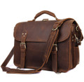 """Yucatan"" Men's Full Grain Distressed Leather Briefcase & Backpack"