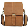 """Palermo"" Men's Top Leather Urban Satchel Bag - Natural Tan"