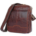 """Hamilton"" Men's Vintage Leather Compact Tablet Messenger Bag"