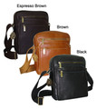 Amerileather Front Flap Messenger Bag-Coffee