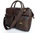 """Athens"" Men's Smooth Top Grain Leather Laptop Messenger Bag"