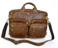 """Caracas"" Vintage Leather Men's Hybrid Backpack & Briefcase"
