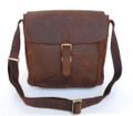 """Samara"" Men's Full Grain Distressed Leather Crossbody  Bag"