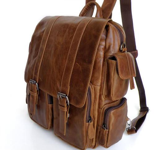 Quot Lima Quot Men S Vintage Leather Convertible Backpack