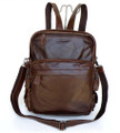 """Boston"" Men's Vintage Leather Convertible Backpack & Shoulder Bag - Brown"