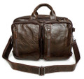 """Rio"" Men's Soft Vintage Leather Convertible Briefcase & Backpack"