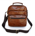 Men's Compact Soft Vintage Leather Bag