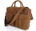 """Durban"" Men's Top Grain Leather Briefcase Laptop Bag"