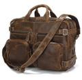 """Kobe"" Distressed Leather Men's Hybrid Backpack & Briefcase"