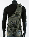 Men's Rugged Military-style Single-shoulder Crossbody Canvas Backpack