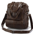 """Hamburg"" Men's Vintage Leather Convertible Backpack & Travel Bag"