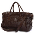 """Teresina"" Soft Vintage Leather Overnight Duffel Bag"