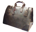 """Budapest"" Men's Full Grain Leather Weekender Travel Carryall Bag"
