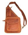 """Cardiff"" Men's Full Grain Leather Single Shoulder Sling"