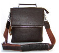 """Toledo"" Classic Men's Leather Combo Lock Box Messenger Bag"