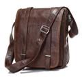 """""""Chattanooga"""" Men's Leather Vertical Messenger Bag & Tablet Bag Case"""