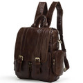 """Lima 2"" Men's Vintage Leather Convertible Backpack & Shoulder Bag"